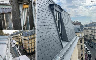 Réfection couverture typique parisienne